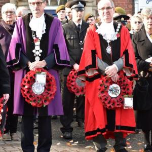The Mayor and Reeve at the Remembrance service